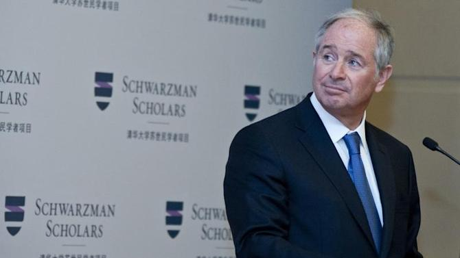 Schwarzman, chairman and CEO of the Blackstone Group, gives a speech at a news conference for the launch of the Schwarzman Scholars at the Great Hall of the People in Beijing