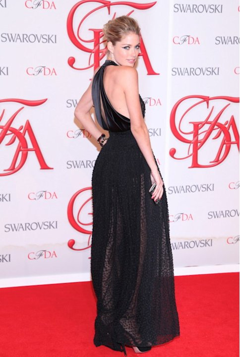 Doutzen Kroes attending the 2012 CFDA Fashion Awards in New York City