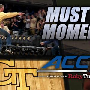 GT Fan Hits Half-Court Shot for a Year of Pizza | ACC Must See Moment