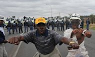 &lt;p&gt;Protesting miners seen in Rustenburg on September 16. South African police on Wednesday fired rubber bullets to disperse a crowd gathered near a mine owned by the world&#39;s number one platinum producer Anglo American Platinum, a spokesman said.&lt;/p&gt;