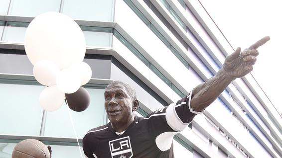 The Earvin 'Magic' Johnson Statue Is Getty Images