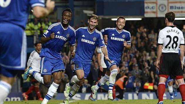 John Obi Mikel scores first league goal for Chelsea, Chelsea v Fulham