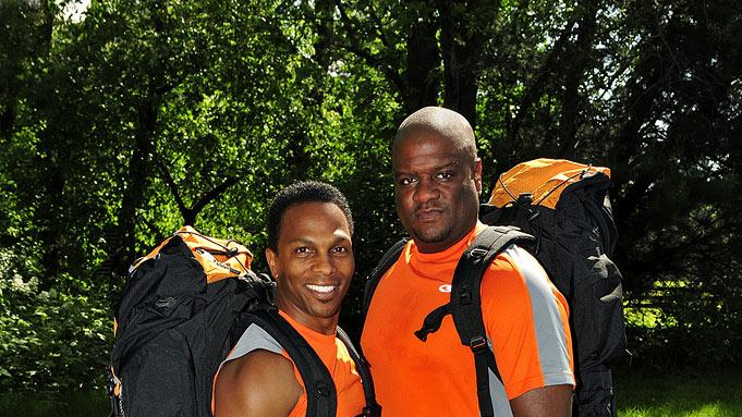 "Best friends Ron Kellum (left) and Tony Stovall compete in ""The Amazing Race 17."""