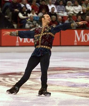BRIAN BOITANO OF THE UNITED STATES SKATES IN MENS TECHNICAL PROGRAM.