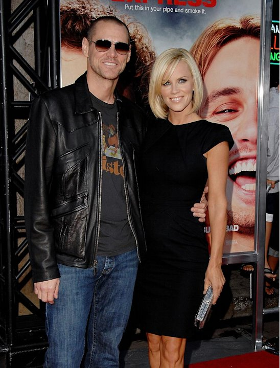 Pineapple Express LA Premiere 2008 Jim Carrey Jenny McCarthy