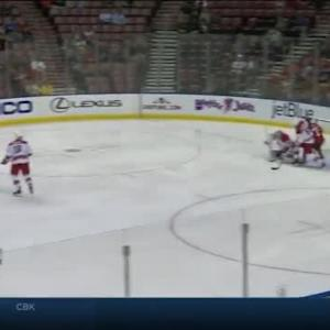 Cam Ward Save on Nick Bjugstad (03:02/2nd)
