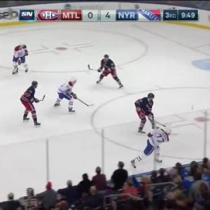 Henrik Lundqvist Save on Tom Gilbert (10:13/3rd)