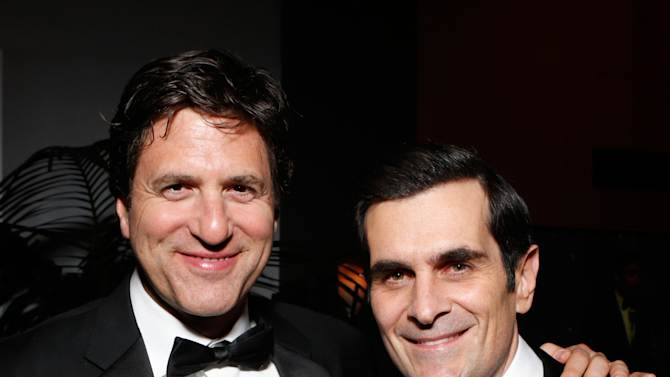 Writer Steven Levitan, left, and actor Ty Burrell attend the Fox Golden Globes Party on Sunday, January 13, 2013, in Beverly Hills, Calif. (Photo by Todd Williamson/Invision for Fox Searchlight/AP Images)