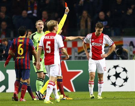 League group H soccer match against Barcelona at Amsterdam Arena
