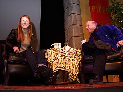 Julianne Moore and Wallace Shawn