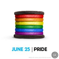 This rainbow-colored Oreo cookie, created in support of Pride month in the US, has  stoked an online controversy