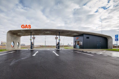 Art Brut: Brutalist Concrete Gas Station A Thing of Surprising Beauty