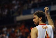 Basketball star Pau Gasol, pictured on July 18, was on Friday named as the Spanish team's flag-bearer at the Olympics in place of tennis star Rafael Nadal, who withdrew from the London Games with a knee injury