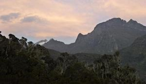 The Rwenzori mountain range on the border between Uganda …