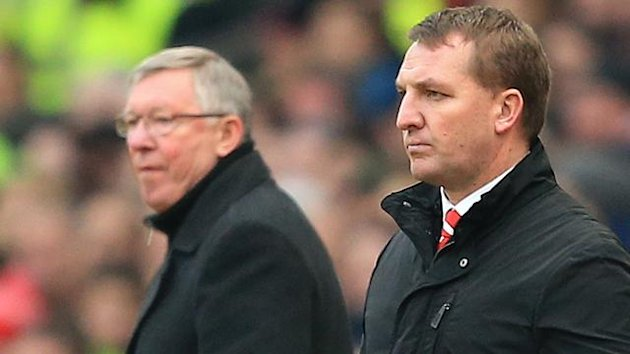Ex-Manchester United manager Sir Alex Ferguson (left) and Liverpool manager Brendan Rodgers