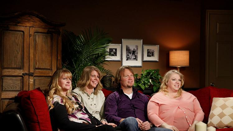 "Christine, Meri, Kody, and Janelle as seen on ""Sister Wives."""
