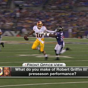 What does Washington Redskins QB RGIII need to improve on?
