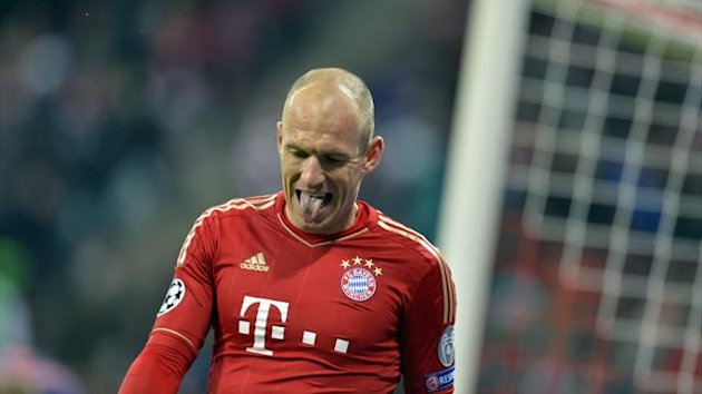 FOOTBALL - 2012/2013 - Bayern-Arsenal - Robben