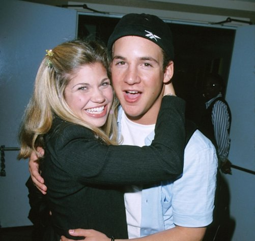 &#39;Boy Meets World&#39; stars Danielle Fishel and Ben Savage seen in April 1999 -- Getty Premium