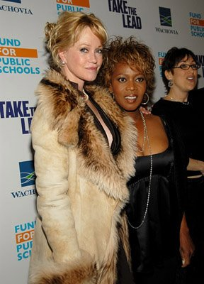 Melanie Griffith and Alfre Woodard at the NY premiere of New Line Cinema's Take the Lead