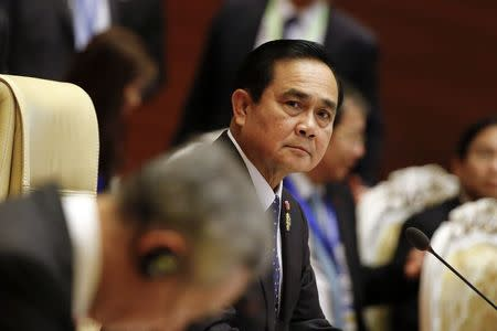 Thailand's Prime Minister Prayuth Chan-ocha attends the plenary session of 25th ASEAN summit at Myanmar International Convention Centre in Naypyitaw