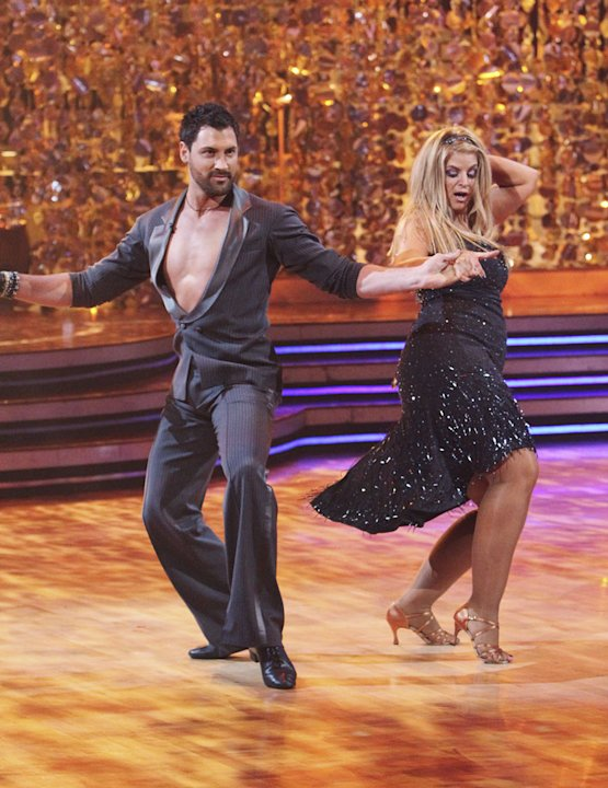Kirstie Alley and Maksim Chmerkovskiy perform the Cha-Cha-Cha on &quot;Dancing with the Stars.&quot; 