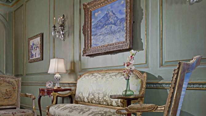 "This undated photo provided by the Edsel & Eleanor Ford House in Grosse Pointe Shores, Mich, shows ""La Montagne Sainte-Victoire vue du bosquet du Château Noir,' a painting by Paul Cezanne that was sold in 2013 to a private buyer for $100 million. The Ford House said it kept secret the sale to help protect Detroit-owned artworks at the Detroit Institute of Arts that were under threat due to the city's bankruptcy. The Ford House, which is on solid financial footing and carries no debt, is using proceeds from the sale to create a special endowment for preservation, conservation and restoration. (AP Photo/Edsel & Eleanor Ford House)"