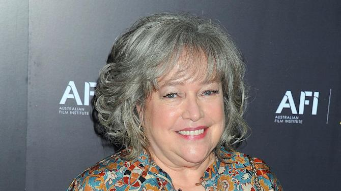 "FILE - In this Jan. 27, 2012 file photo, actress Kathy Bates arrives at the Australian Academy of Cinema and Television Arts Awards at the Soho House, in Los Angeles. The third season of ""American Horror Story"" will be subtitled ""Coven,"" and add Bates to the series' ensemble, according to the TV anthology's co-creator, Ryan Murphy. (AP Photo/Katy Winn, File)"