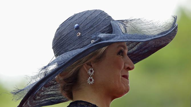 Maxima takes part in an official welcoming ceremony at Rideau Hall in Ottawa