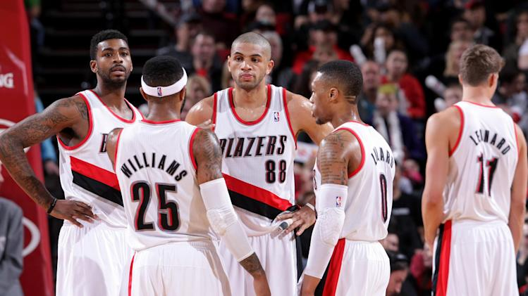 Blazers beat Nuggets 102-96, sweep season series