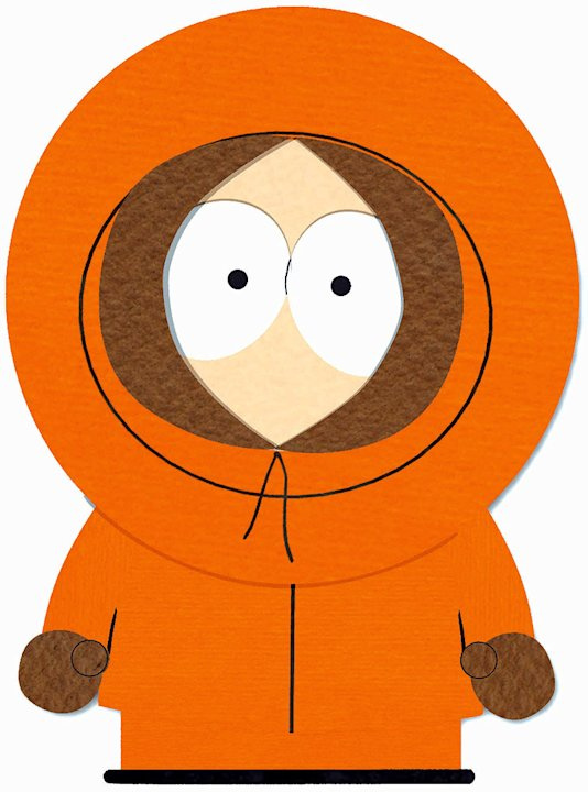 Kenny McCormick (voiced by Matt Stone) stars in South Park on Comedy Central.