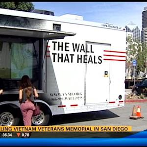 Traveling Vietnam veterans' memorial stops in San Diego