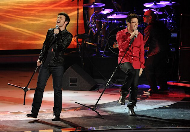 Kris Allen and Danny Gokey perform &quot;Renegade&quot; by Styx on &quot;American Idol.&quot; 