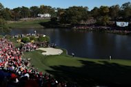 Jim Furyk of the US putts on the 17th green during Sunday&#39;s Ryder Cup Singles Matches. The New York Times said the nature of the US defeat went to the heart of the sport&#39;s appeal and made the Ryder Cup &quot;one of the most unpredictable and irrestible of sporting events&quot;