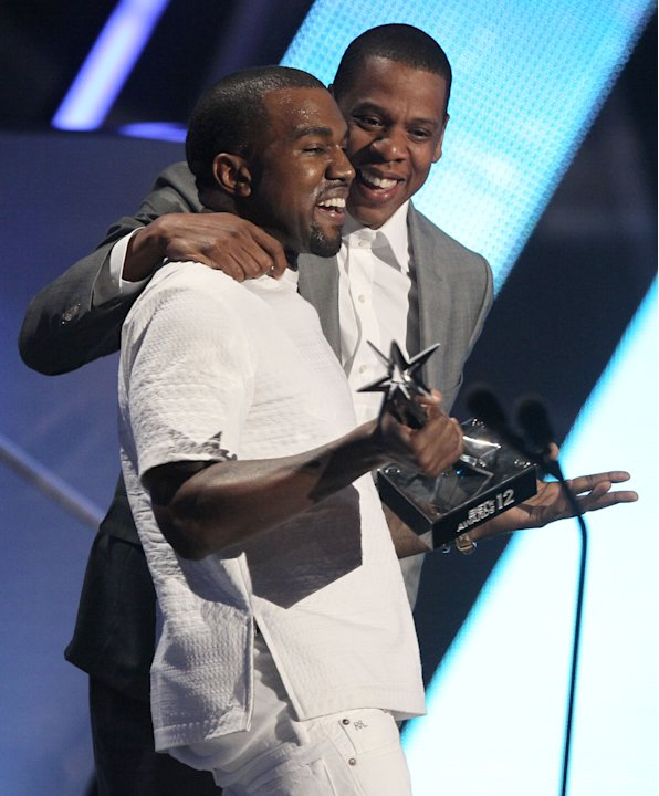 Kanye West, left, and Jay-Z …