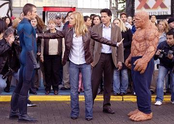Chris Evans , Jessica Alba , Ioan Gruffudd and Michael Chiklis in 20th Century Fox's Fantastic Four