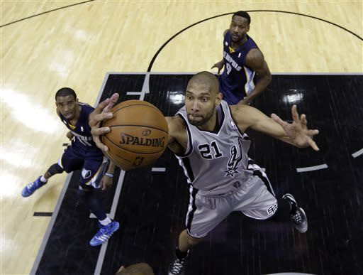Spurs rout Grizzlies 105-83 in West finals opener