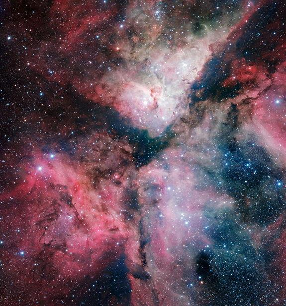 Glowing Nebula Photo Marks New Telescope's Inauguration