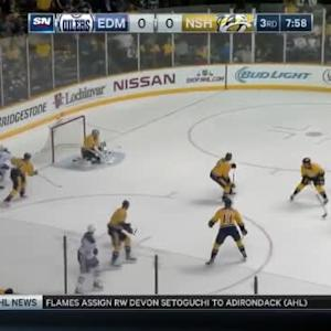 Pekka Rinne Save on Luke Gazdic (12:04/3rd)