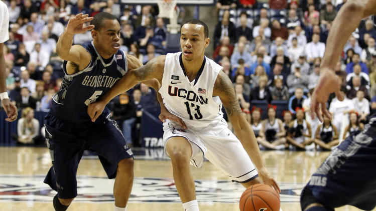 NCAA Basketball: Georgetown at Connecticut