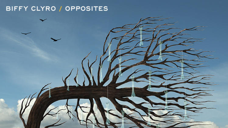 "This publicity CD cover image released by Warner Bros. Records shows ""Opposites"" by Biffy Clyro. (AP Photo/Warner Bros. Records)"