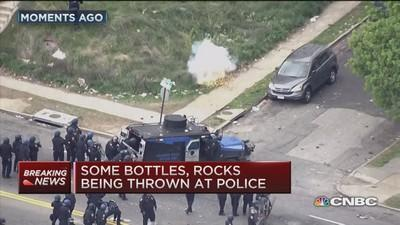 Police targeted, stores looted in Baltimore riots