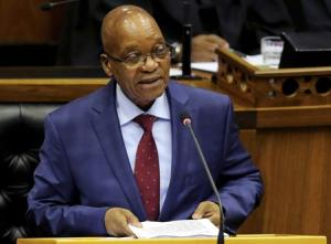 South African President Zuma delivers his State of the Nation address at Parliament in Cape Town