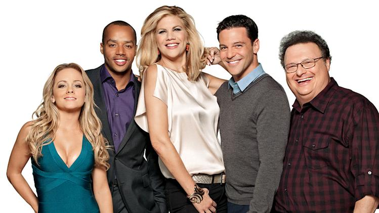 "The cast of ""The Exes."""