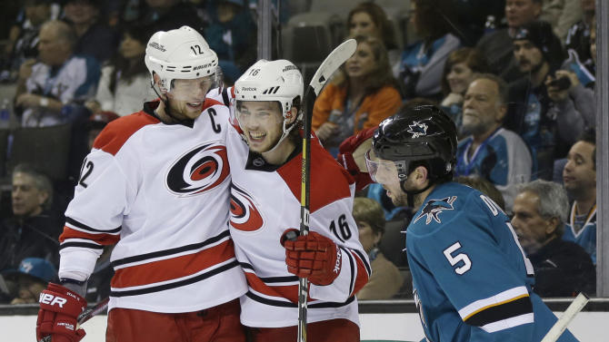 Hurricanes beat Sharks 3-2 in OT