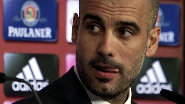 Pep Guardiola, the new soccer coach of Bayern Munich attends a news conference in Munich June 24, 2013. (Reuters)