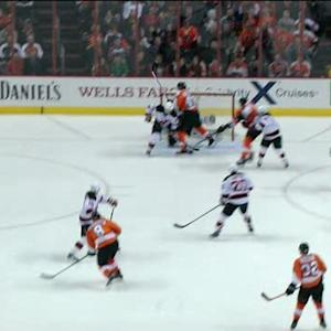 Martin Brodeur's amazing no-look glove save