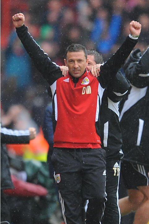 Bristol City manager Derek McInnes was in celebratory mood
