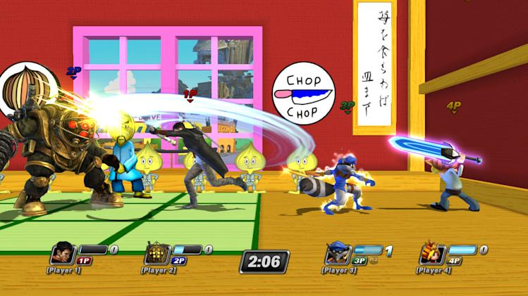 "This video game image released by Sony shows a scene from ""PlayStation All-Stars Battle Royale."" (AP Photo/Sony)"