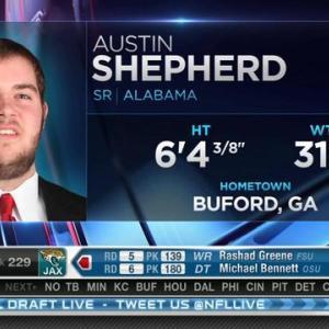 Minnesota Vikings pick tackle Austin Shepherd No. 228 in 2015 NFL Draft